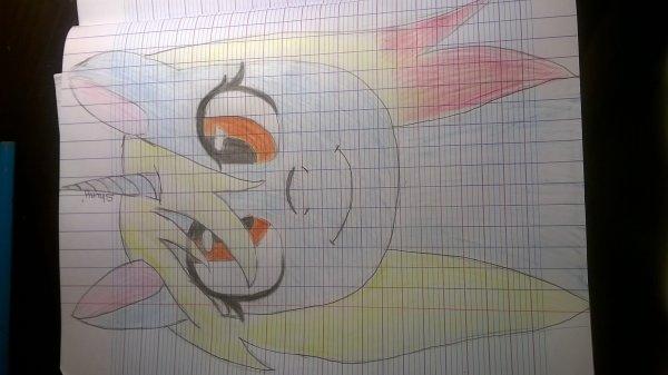 Poney (encore ! mon modèle etait un dessin de Fuyus fox ! aller voir sa chaîne de speed paint c'est trop génial !)