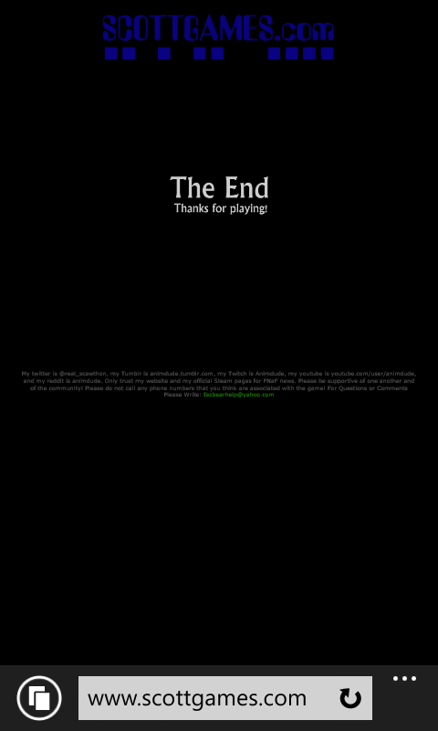 THE END (Merci Scott Cawthon)