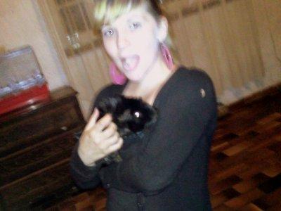 moi♥ et ma cochon d'inde coca ♥