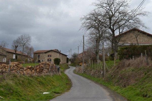 Vue du village quand on est dans notre cour
