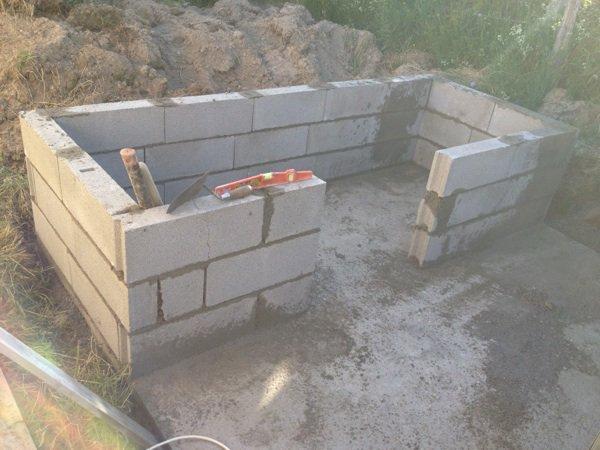 on commence à construire la niche ....