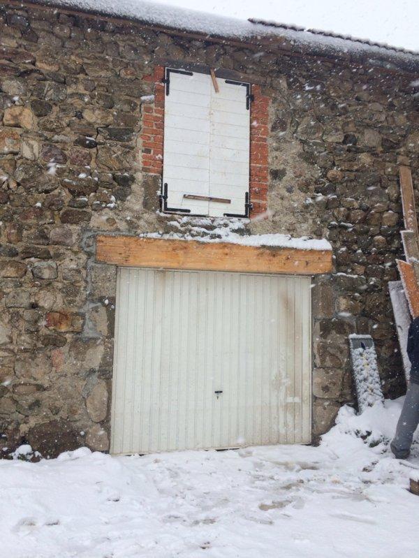 Installation de la porte de garage =D