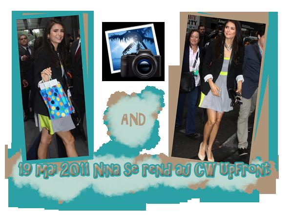 Le 6 juin Nina c'est rendu aux MTV's Movie Awards dans une robe à faire palir plus d'un vampire. Elle était magnifique. Aussi une photo de tournage sur le set de TVD. Puis il y a 4 nouvelles photos twitter de la belle. Des candids datant du 19 mai 2011 alors qu'elle se rendait à la CW Upfront sont sortis et aussi les photos d'un shoot réalisé en 2010 pour le magazine Zink.