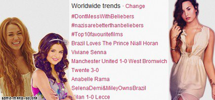 Le 10.03.2012 ; SelenaDemi & MileyOwnsBrazil