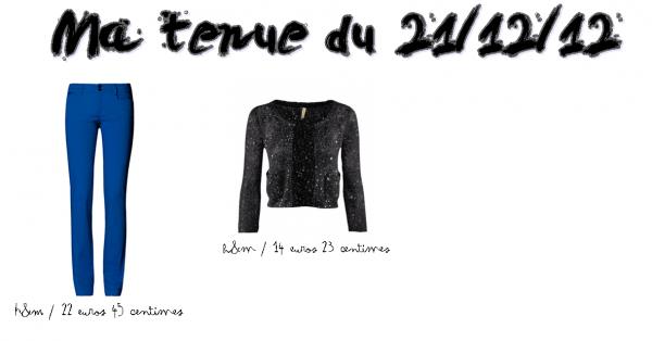 """. Ma tenue du 21/12/2012:Style """"Star"""". Voilà ma tenue pour la fameuse """"Fin du Monde"""". Je n'aie pas réussi à trouver le t-shirt, dommage il était super beau. Sinon, qu'en pense tu ?? ."""