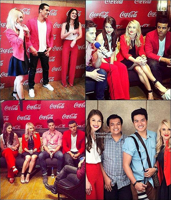 06/06 Melissa, plus sublime que jamais, faisait la promotion de Coca Cola avec ses co-stars de Glee !