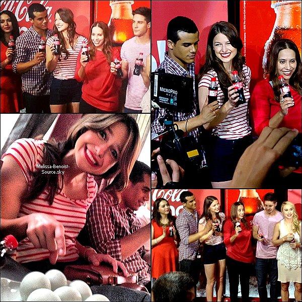 08/06 Melissa était à la deuxième journée de promotion pour Coca Cola !