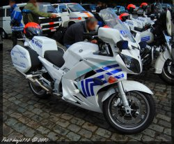 Moto Yamaha Fjr Police Locale Bruxelles CAPITALE Ixelles