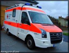 Volkswagen Crafter Rettungsdienst Deutsches Rotes Kreuz