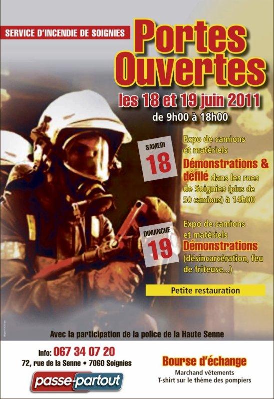 Portes Ouvertes Servide D'incendie Soignies samedi 18 et dimanche 19 juin Soignies