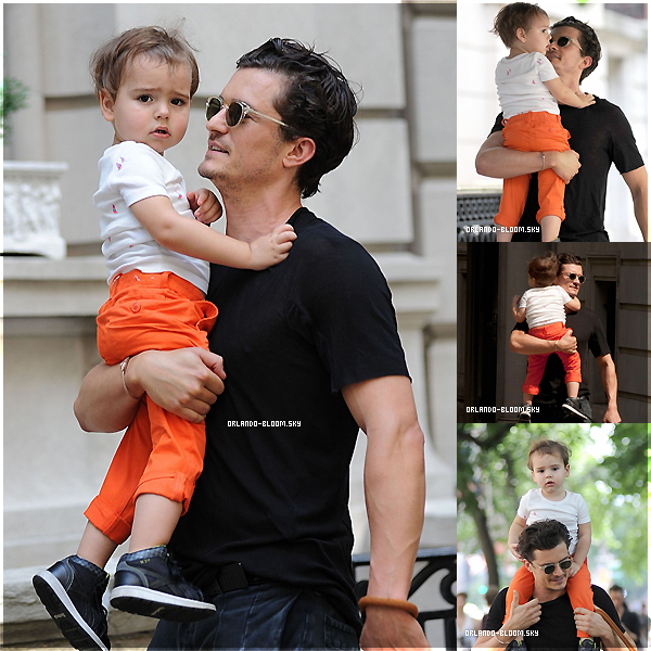 7.07.13 - Orlando et son adorable fils Flynn se promenaient à nouveau dans Central Park ♥