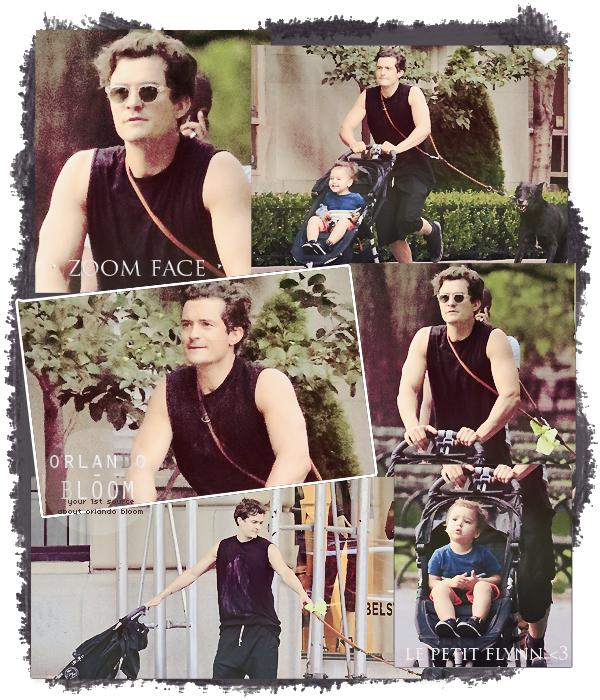 10.07.13 - Ce mercredi après-midi , Orlando se promenait avec son adorable fils Flynn dans Central Park ♥.