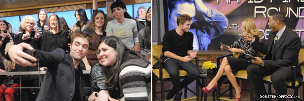 08/11 ROB AU LIVE W/ KELLY AND MICHAEL: part1 / part2 / part3