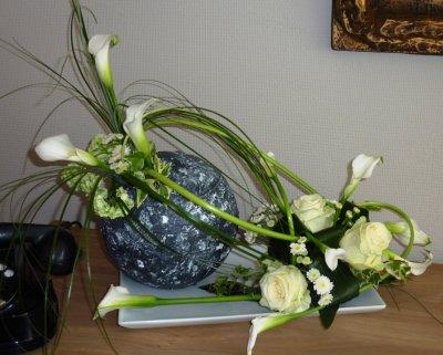 """Variante pour les decues ;-) du Cours d'art floral de ce mardi 05/04 """" Le Pouvoir des Fleurs"""""""