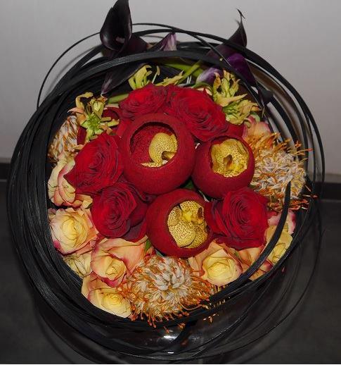 """Le Bouquet """" Diables Rouges  """"aux couleurs bien Belges"""