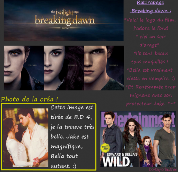 Rattrapage Breaking Dawn.