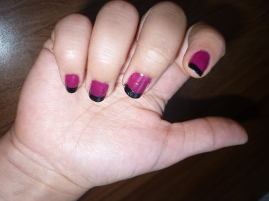 Nail art French color