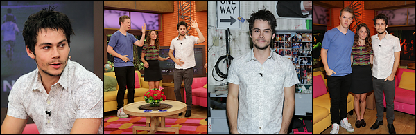 """28/08/14 - Apparition de Dylan dans l'émission """"Despierta America"""" pour la promo de TMR"""
