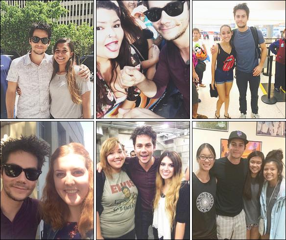 Quelques PHOTOS de Dylan avec ses fans