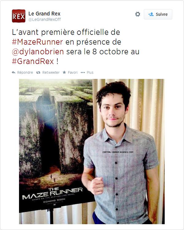 ÉVÉNEMENT Dylan sera présent le 8 octobre au GrandRex pour l'avant première de TMR