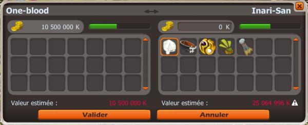 Vente d'items
