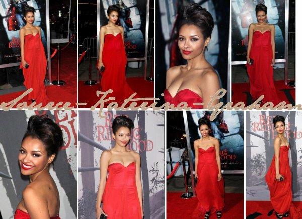 7 mars • Kat à la première de «Red Riding Hood»