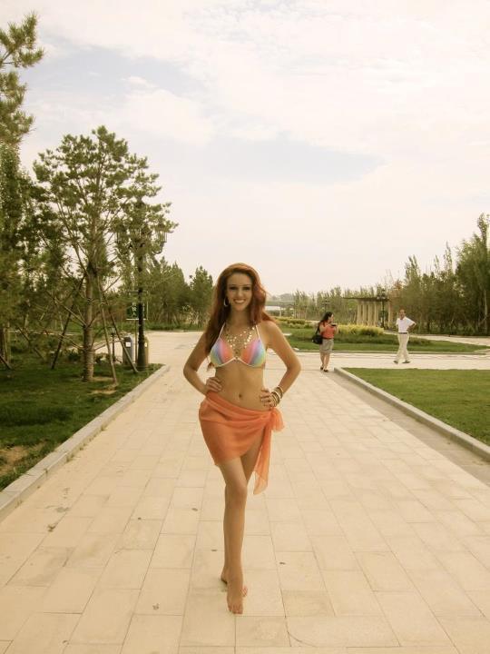 Delphine Wespiser- Miss World.