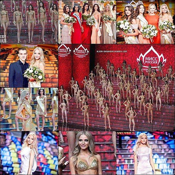 FLASHBACK 2012 : Alena participait à Miss Russia 2012.