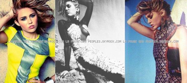 Le photoshoot de Zac Efron pour John John Denim et celui de Miley Cyrus pour Marie-Claire