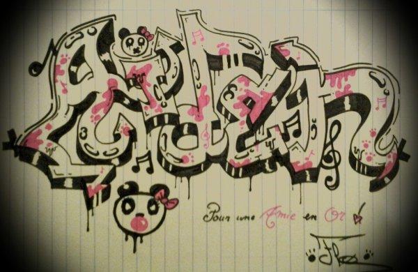 Comme promis , voilà le graffiti fait pour une amie tout simplement génial :) je l'adore  ( F ) <3