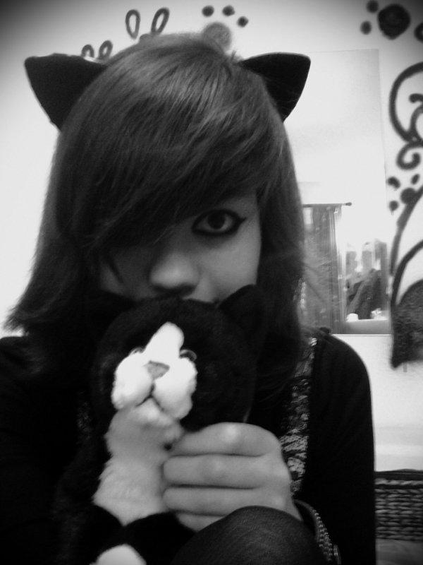 Je suis un petit chat Noir ^^ le Chat des nuits :P