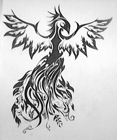 Mon phoenix en tribal :) 4heures de dessins :P fiere de moi ^^