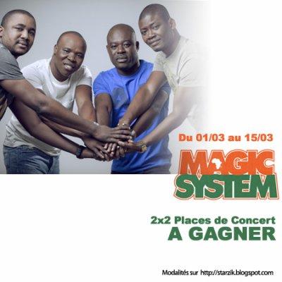 Gagnez 2x2 Places de Concert pour Magic System !