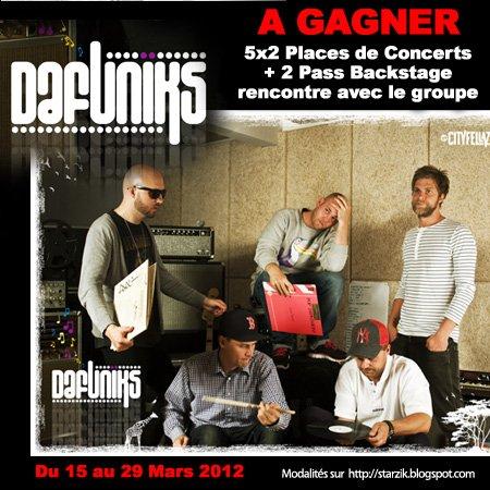 Gagnez 5x2 Places et 2 PASS VIP pour le Concert de DaFuniks !