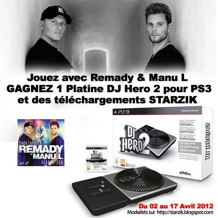 Gagnez 1 Platine + 1 Jeu DJ Hero 2 pour PS3 et des bons Cadeaux Starzik !