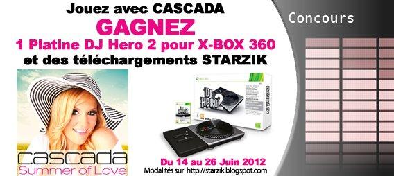 Gagnez 1 Platine + 1 Jeu DJ Hero 2 pour XBOX et des bons Cadeaux Starzik !