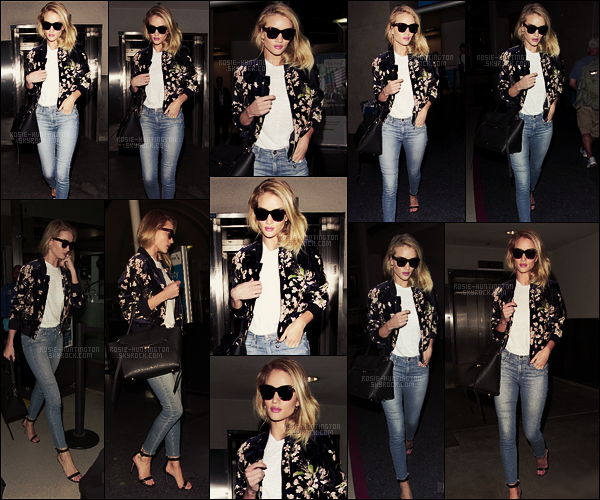 08/06/16 -  Rosie Huntington a été photographiée à l'aéroport LAX, elle est donc rentrée à Los Angeles J'aime énormément son bomber fleuri, c'est un vrai coup de coeur ! Et les lunettes lui vont très bien elles aussi... Un top pour cette tenue !