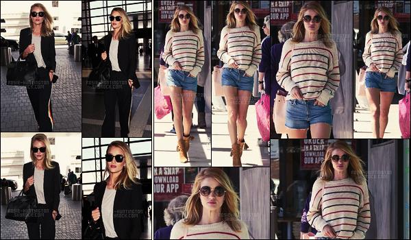 06/04/16 -  Rosie Huntington a été photographiée à son arrivée à l'aéroport LAX de Los Angeles, CA. Le 02/04, Rosie H-W. avait été vue dans les rues de West Hollywood avec son fiancé Jason qu'on ne voit pas sur les photos. Un top..