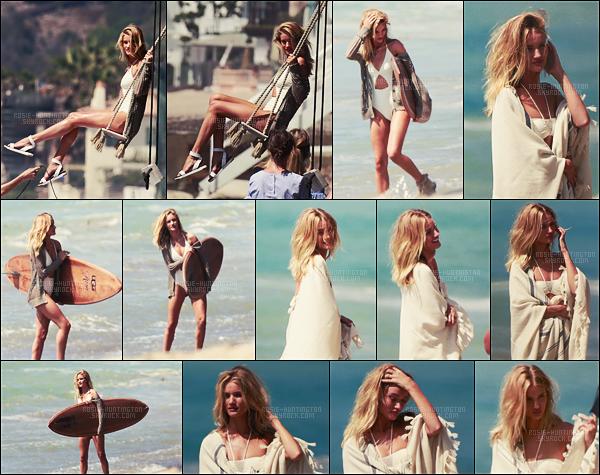 08/09/16 - Rosie Huntington a été aperçue sur le set d'un photoshoot pour la marque UGG - à Malibu.  Les photos ont l'air sublimes, j'ai vraiment hâte de découvrir ce nouveau photoshoot qui ne va pas tarder à pointer le bout de son nez ...