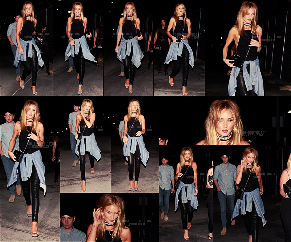 09/09/16 - Dans la soirée, Rosie Huntington a été repérée allant au concert de Drake - à Los Angeles. Après le concert de Rihanna dernièrement, c'est maintenant à celui de Drake qu'on retrouve notre belle blonde ... Elle était radieuse !!