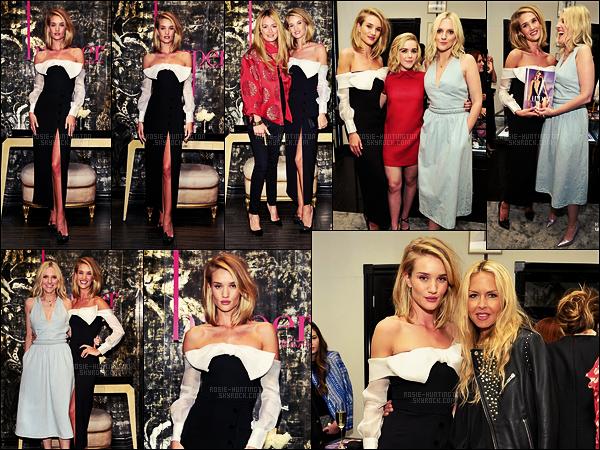 21/04/15 - La top-model Rosie Huntington était à l'événement Harper par Harper's Bazaar dans L-A. Je ne trouve pas que cette robe met à son avantage qui que se soit, même Rosie ne semble pas mise en valeur comme il faut.. Un flop...