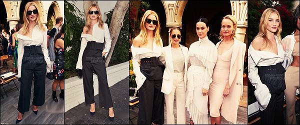 26/10/16 - Rosie Huntington était à la Vogue Fashion Party qui s'est déroulée dans West Hollywood. Dans la matinée, la belle mannequin Rosie Huntington avait été aperçue quittant son cours de gym, dans West Hollywood encore, CA.