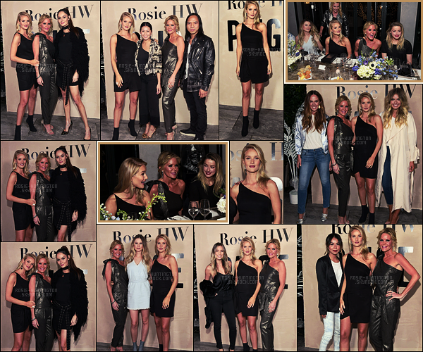 15/02/17 - Rosie Huntington était au déjeuner de la nouvelle collection Rosie HW x Paige  - à West-H. On peut appercevoir l'actrice Amber Heard en salle. Rosie nous propose une robe noire très simple, qui va parfaitement à l'événement, top