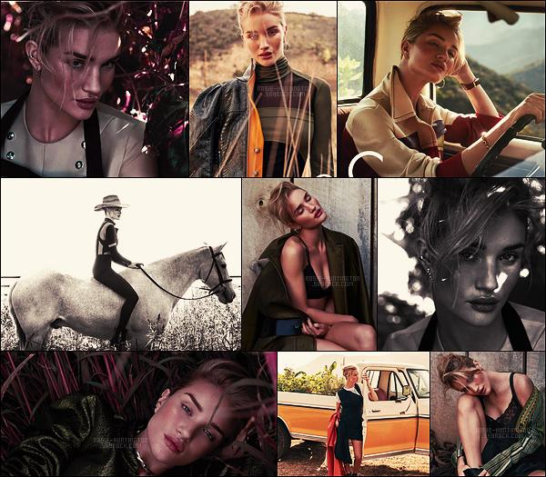 SHOOT  •• Découvre les photos de Rosie Huntington pour C Magazine par Di Battista.