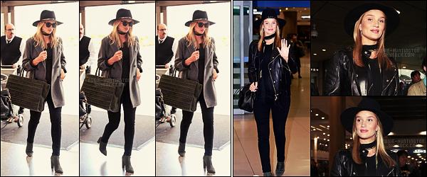 28/03/17 - Rosie Huntington a été photographiée arrivant au célèbre aéroport LAX - de Los Angeles. Le lendemain, la future maman arrivait à l'aéroport Incheon - à Seoul pour la Fashion Week. Les deux tenues sont bien je trouve, tops.