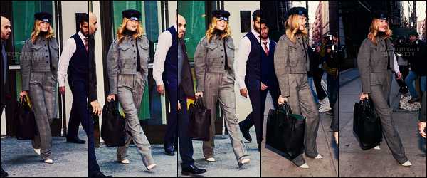 12/02/18 -  La belle Rosie Huntington  a été aperçue alors qu'elle quittait son hôtel dans  - New York City. Rosie va pas tarder à quitter New York pour Londres, en attendant j'aime pas trop la tenue, un jean aurait été mieux je pense, et vous?