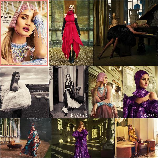 COVER  •• Rosie Huntington pour le mag Haper's Bazaar Arabie,  issue d'Avril 2018