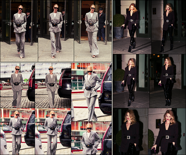 28/03/18 - Rosie Huntington a d'abord été aperçue quittant son hôtel, toujours situé dans New York City. Puis, dans la même tenue, elle a été vue arrivant à un studio. Dans la soirée, Rosie sortait de son hôtel pour manger. Plutôt... Top/Flop ?