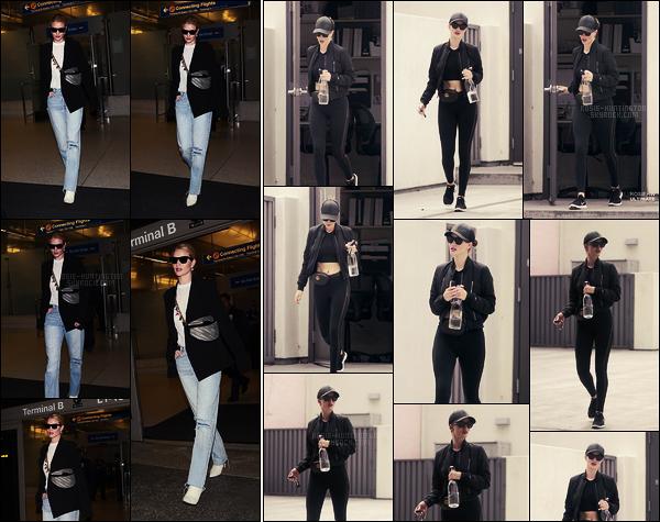 11/05/18 - Rosie Huntington a été aperçue à son arrivée à l'aéroport international LAX de  - Los Angeles. Le 16/05, Rosie avait encore été photographiée alors qu'elle sortait de sa salle de sport. J'avoue que j'aime ses tenues de sport, un top