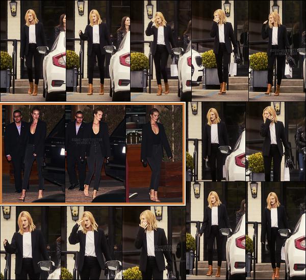 24/05/18 - Rosie Huntington a été photographiée quittant le salon Ramirez Tran situé dans Beverly Hills. Le 26/05 au soir, Rosie a été vue quittant le restaurant Soho House avec son fiancé dans West Hollywood.Très jolie tenue là, tooop !